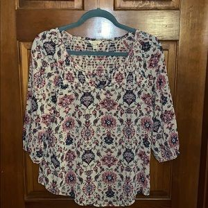 Floral blouse small petite